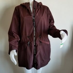 Lucky Brand Lg anorak jacket burgundy